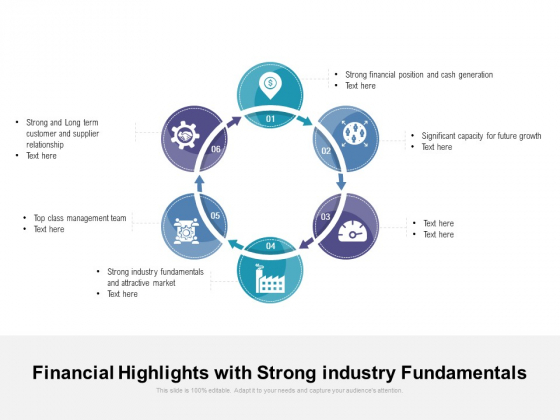 Financial Highlights With Strong Industry Fundamentals Ppt PowerPoint Presentation Gallery Grid PDF
