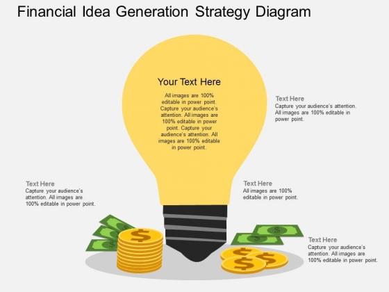 Financial Idea Generation Strategy Diagram Powerpoint Template