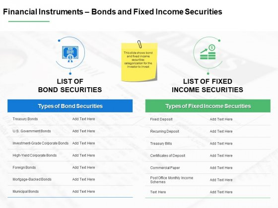 Financial Instruments Bonds And Fixed Income Securities Ppt PowerPoint Presentation Inspiration Templates