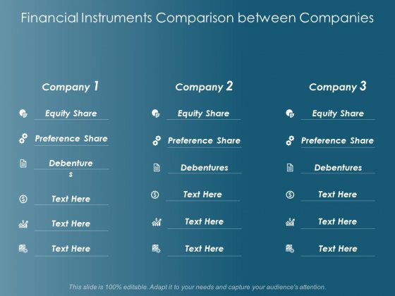 Financial Instruments Comparison Between Companies Ppt Powerpoint Presentation Gallery Images