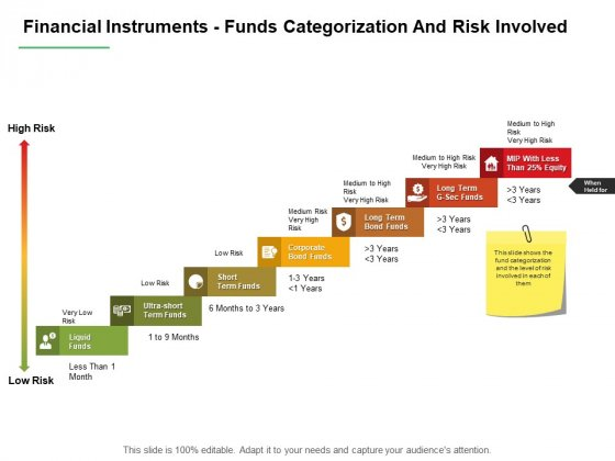 Financial Instruments Funds Categorization And Risk Involved Ppt PowerPoint Presentation Outline Design Inspiration