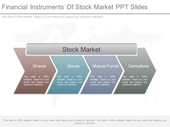Financial Instruments Of Stock Market Ppt Slides