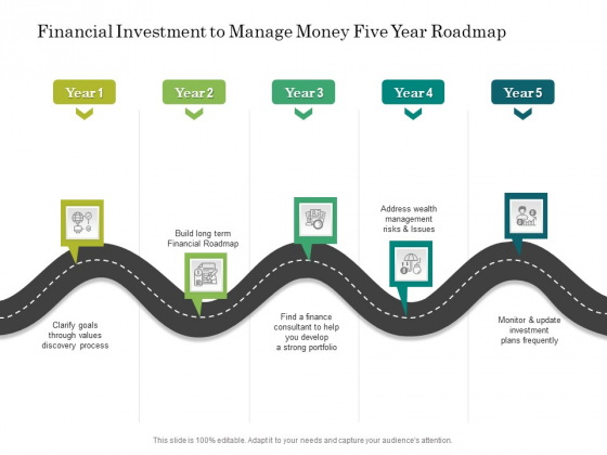 Financial Investment To Manage Money Five Year Roadmap Summary