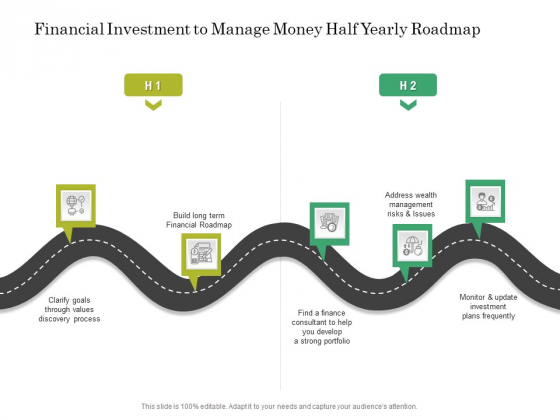 Financial Investment To Manage Money Half Yearly Roadmap Structure