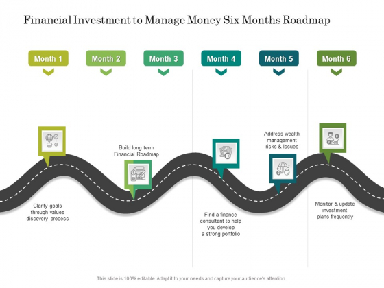 Financial Investment To Manage Money Six Months Roadmap Sample