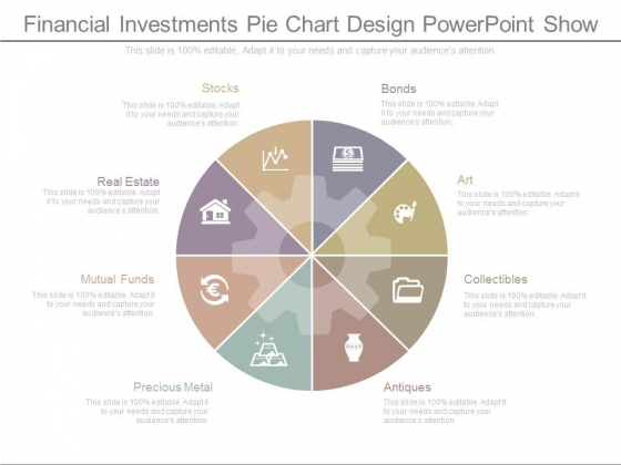 Financial Investments Pie Chart Design Powerpoint Show