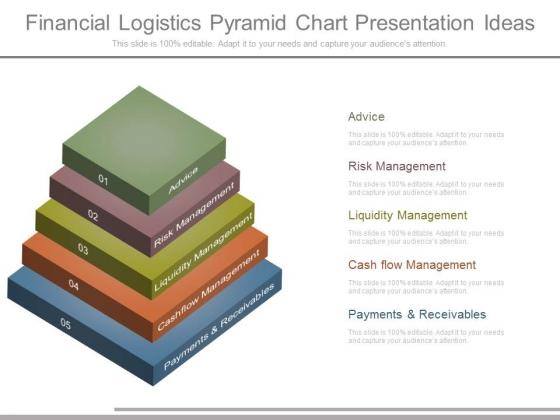 Financial Logistics Pyramid Chart Presentation Ideas