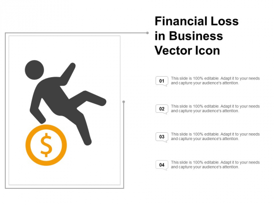 Financial Loss In Business Vector Icon Ppt PowerPoint Presentation Pictures Icon