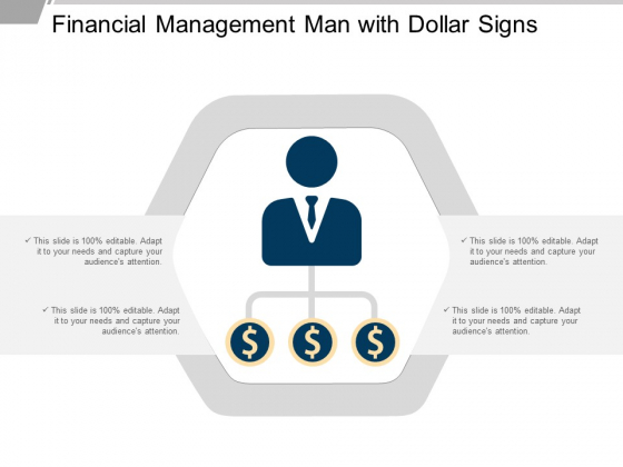 Financial Management Man With Dollar Signs Ppt Powerpoint Presentation Show Topics