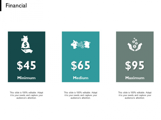 Financial Minimum Medium Maximum Ppt PowerPoint Presentation Icon Sample
