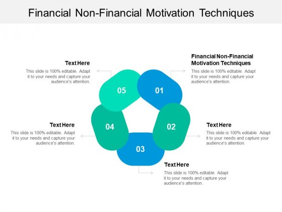 Financial Non Financial Motivation Techniques Ppt PowerPoint Presentation Layouts Smartart Cpb