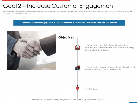Financial PAR Goal 2 Increase Customer Engagement Ppt Layouts Background Images PDF