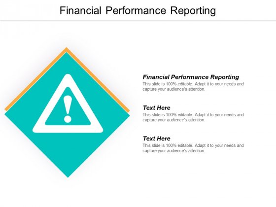 Financial Performance Reporting Ppt PowerPoint Presentation Pictures Format Cpb