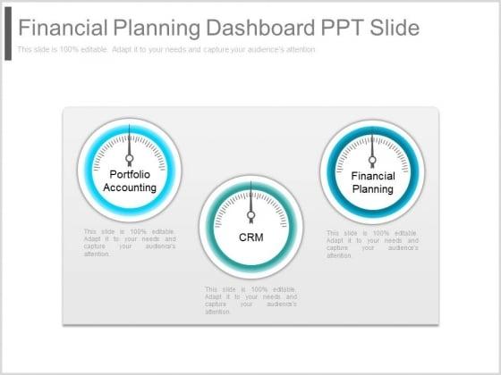 Financial Planning Dashboard Ppt Slide