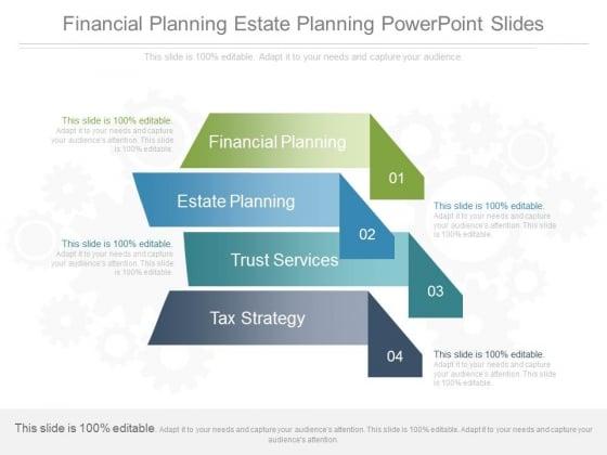 Financial Planning Estate Planning Powerpoint Slides