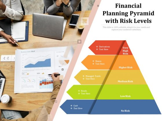 Financial Planning Pyramid With Risk Levels Ppt PowerPoint Presentation Inspiration Themes PDF