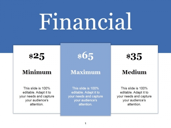 Financial Ppt PowerPoint Presentation Infographic Template Background Image