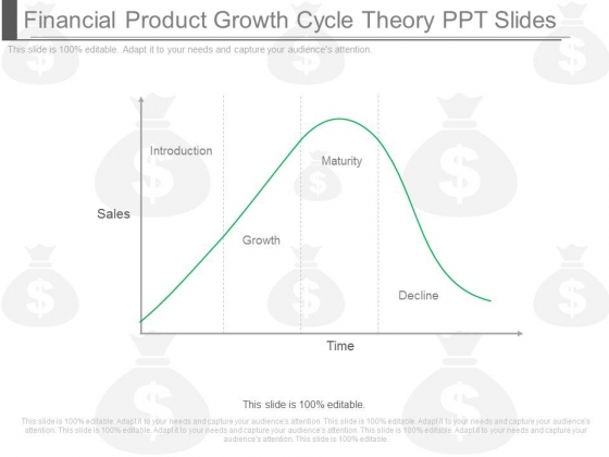 Financial Product Growth Cycle Theory Ppt Slides