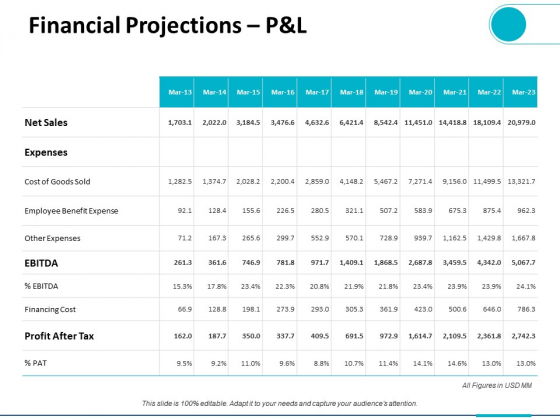 Financial_Projections_P_And_L_Ppt_PowerPoint_Presentation_Slides_Graphics_Slide_1