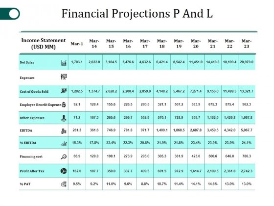 Financial_Projections_P_And_L_Template_2_Ppt_PowerPoint_Presentation_Portfolio_Summary_Slide_1