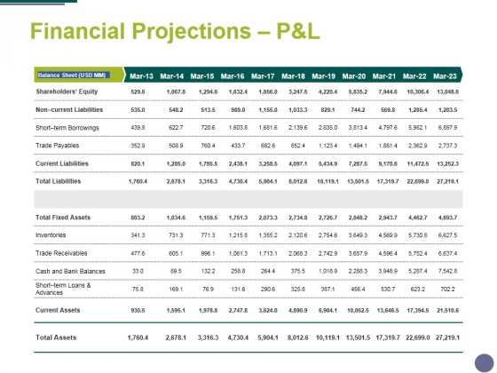 Financial Projections Panel Template 2 Ppt PowerPoint Presentation Infographics Inspiration
