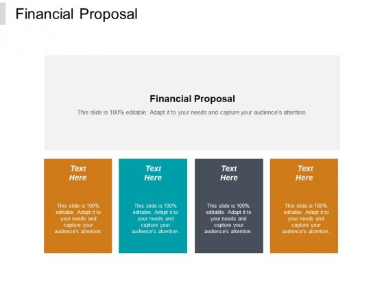 Financial Proposal Ppt PowerPoint Presentation Model Information Cpb