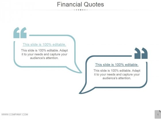 Financial Quotes Ppt PowerPoint Presentation Slide Download