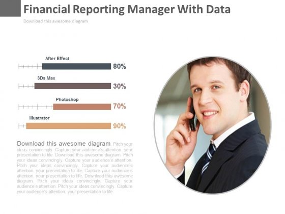 Financial Reporting Manager With Data Powerpoint Slides