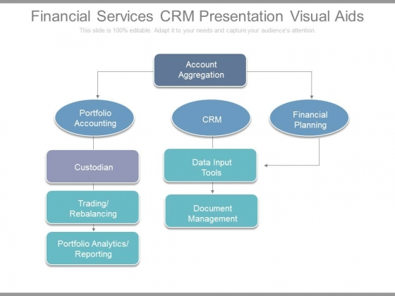 Financial Services Crm Presentation Visual Aids