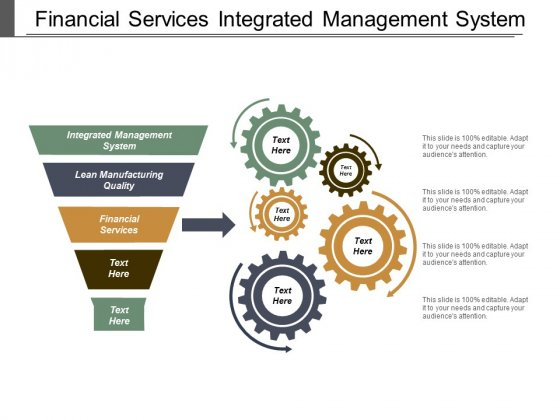 Financial Services Integrated Management System Lean Manufacturing Quality Ppt PowerPoint Presentation Infographics Grid