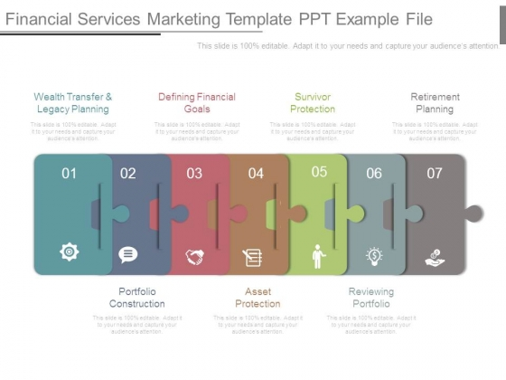 Financial Services Marketing Template Ppt Example File
