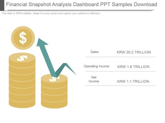 Financial Snapshot Analysis Dashboard Ppt Samples Download