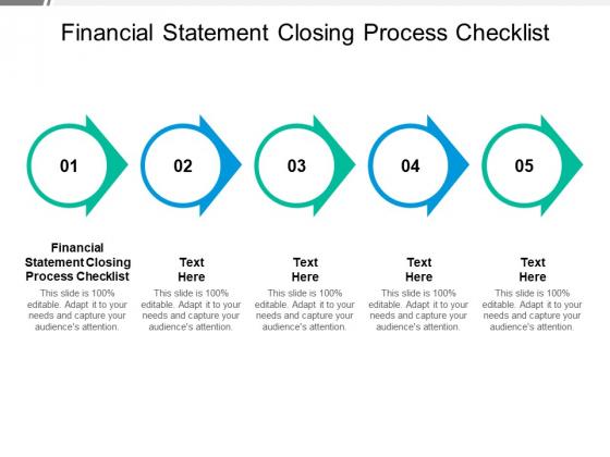 Financial Statement Closing Process Checklist Ppt PowerPoint Presentation Summary Deck Cpb