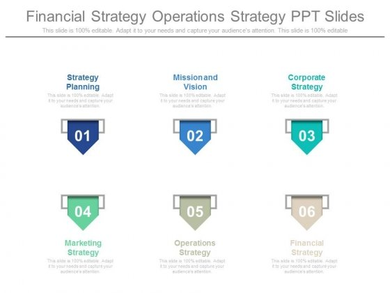 Financial Strategy Operations Strategy Ppt Slides