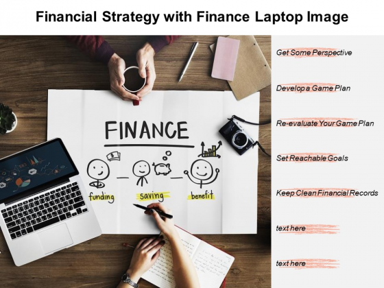Financial Strategy With Finance Laptop Image Ppt PowerPoint Presentation File Show