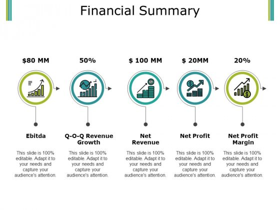 Financial Summary Ppt PowerPoint Presentation Inspiration Influencers