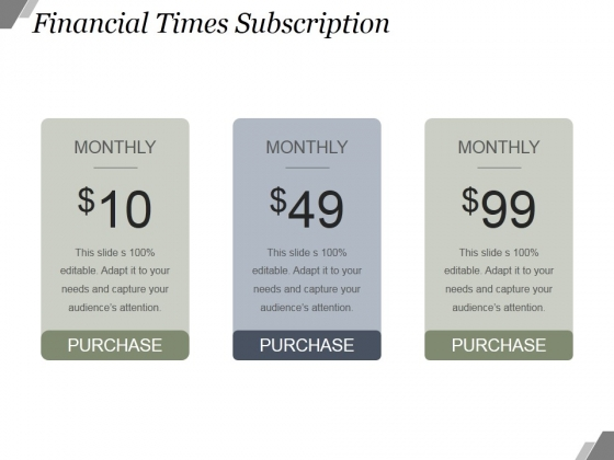 Financial Times Subscription Ppt PowerPoint Presentation Designs