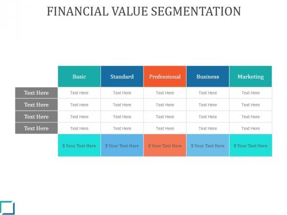 Financial Value Segmentation Ppt PowerPoint Presentation Design Templates