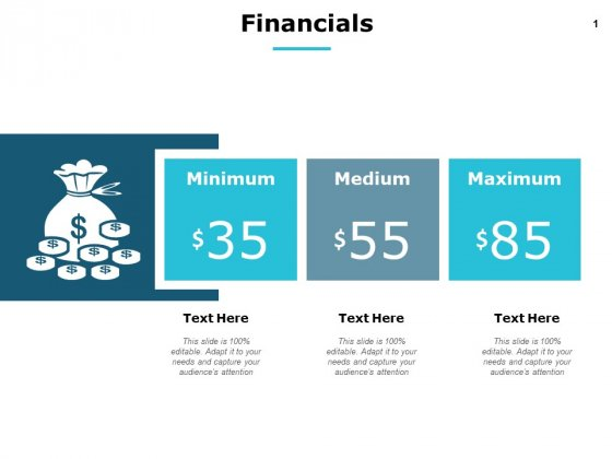 Financials Medium Minimum Maximum Ppt PowerPoint Presentation Summary Layout