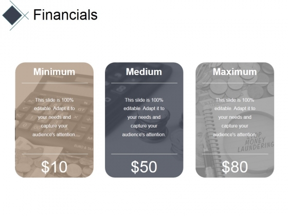 Financials Ppt PowerPoint Presentation Infographics Outfit