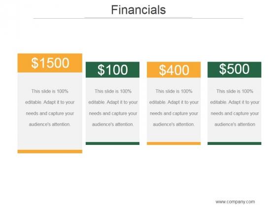 Financials Ppt PowerPoint Presentation Layout
