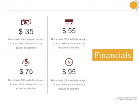 Financials Ppt PowerPoint Presentation Sample