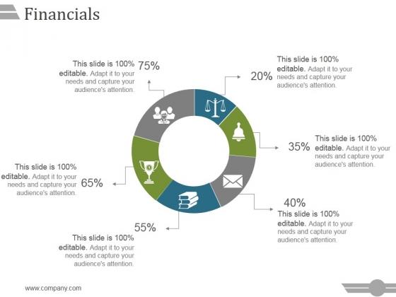 Financials Ppt PowerPoint Presentation Slide