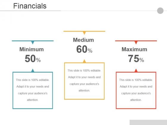 Financials Ppt PowerPoint Presentation Slides Ideas