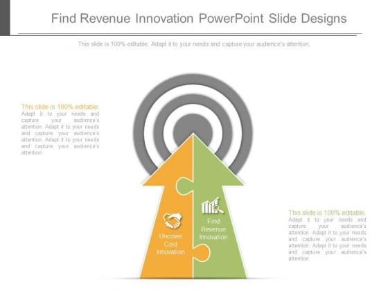 Find Revenue Innovation Powerpoint Slide Designs