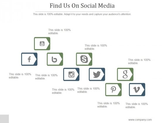Find Us On Social Media Ppt PowerPoint Presentation Example 2015