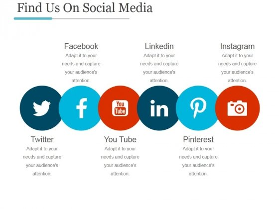 Find Us On Social Media Ppt PowerPoint Presentation Good