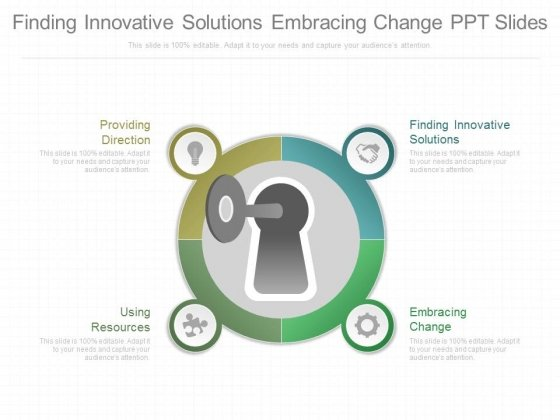 finding innovative solutions embracing change ppt slides