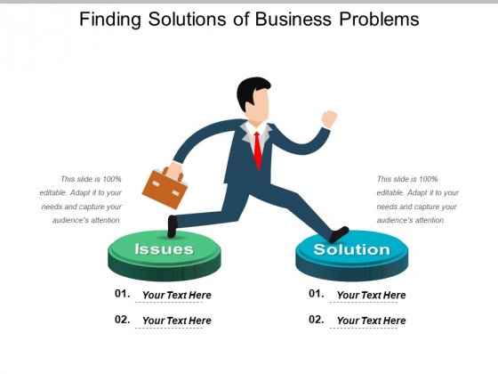 Finding Solutions Of Business Problems Ppt PowerPoint Presentation Gallery Ideas PDF