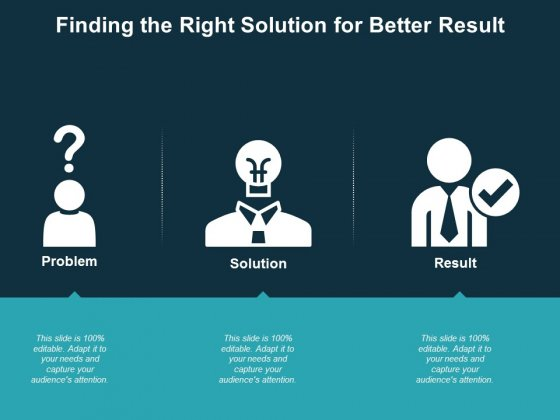 Finding The Right Solution For Better Result Ppt PowerPoint Presentation Model